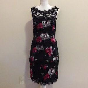 White House Black Market Floral Midi Dress